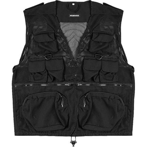 Humvee by CampCo Combat Photo Vest, Medium (Black) HMV-VC-BK-M