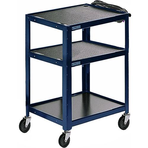 Luxor Steel Adjustable Height AV Cart with Three AVJ42-RB
