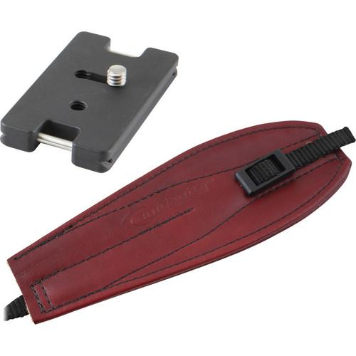Camdapter Arca Adapter with Burgundy Pro Strap CB-0002-BURGUNDY