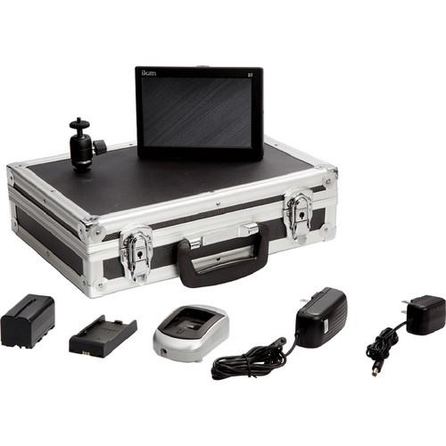 ikan D7 Field Monitor Deluxe Kit with 900 Series Battery D7-DK-C