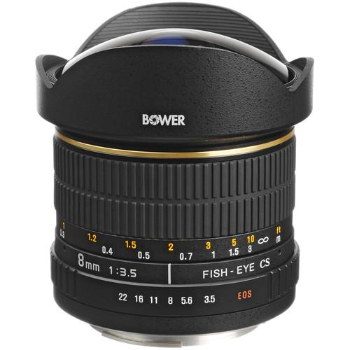 Bower SLY 358C 8mm f/3.5 Fisheye Lens for Canon APS-C SLY358C