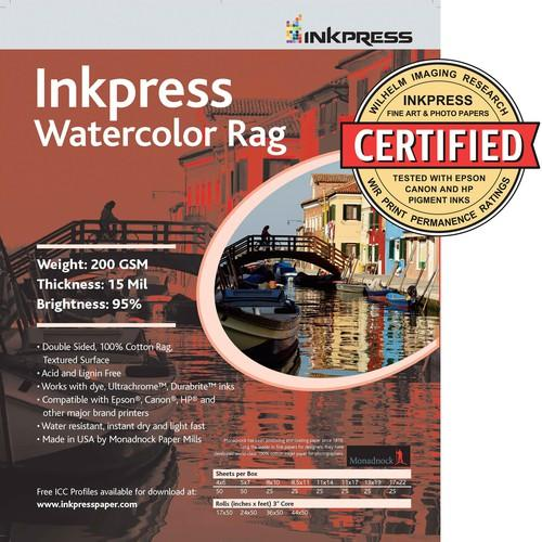 Inkpress Media Watercolor Rag (13 x 19