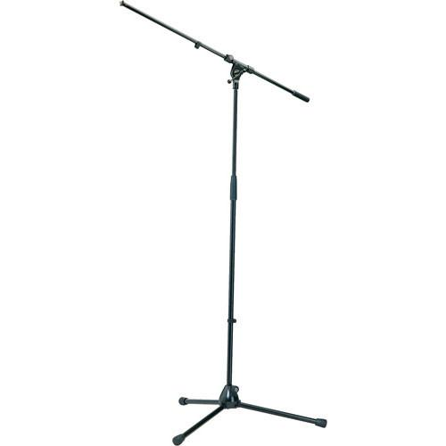 K&M 21020 Tripod Microphone Stand with Boom (Black) 21020-500-55