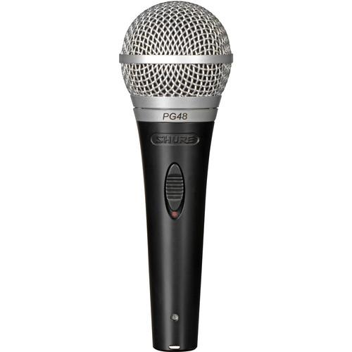 Shure PG48-QTR Cardioid Dynamic Vocal Microphone PG48-QTR