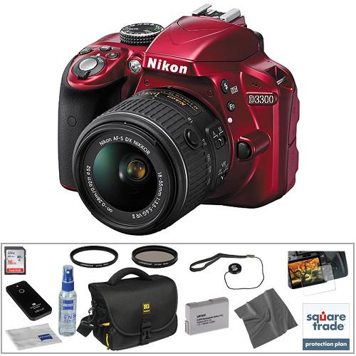 Nikon D3300 DSLR Camera with 18-55mm Lens (Red) 1533