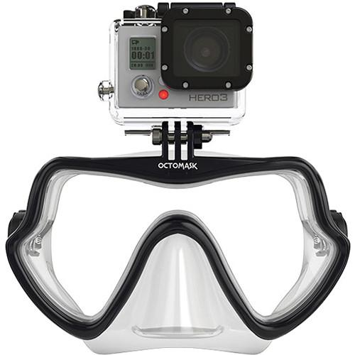 OCTOMASK Frameless Scuba Mask for GoPro Camera (Clear) 202