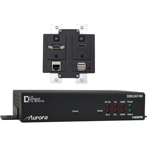 Aurora Multimedia DXW-2EUH Wall Plate with HDBaseT DXW-2EUH-S2-W