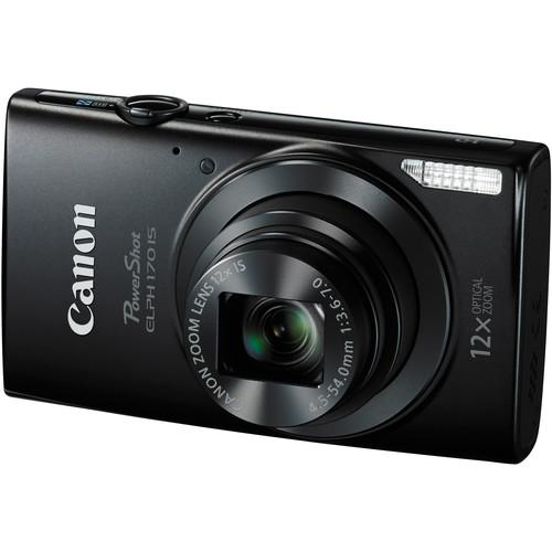 Canon PowerShot ELPH 170 IS Digital Camera (Black) 0114C001