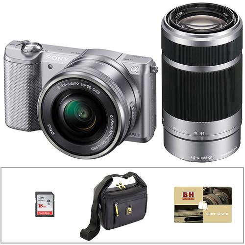 Sony Alpha a5000 Mirrorless Digital Camera with 16-50mm and