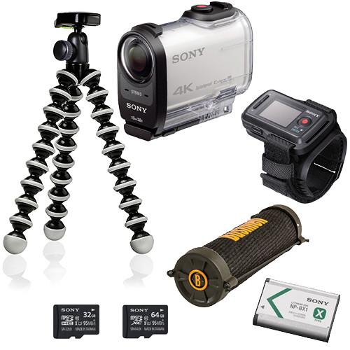 Sony FDR-X1000V 4K Action Cam with Live View Remote FDRX1000VR/W