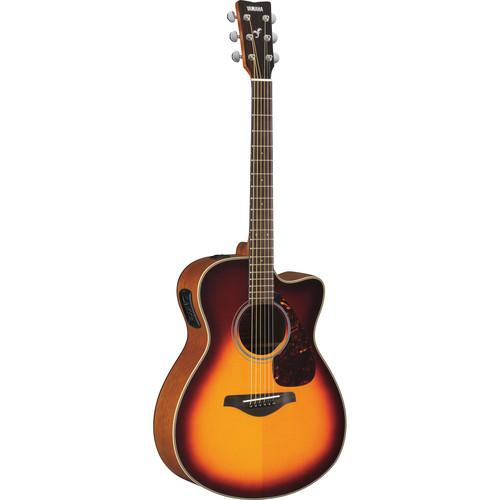 Yamaha FSX700SC Acoustic/Electric Solid-Top Cutaway FSX700SC BS