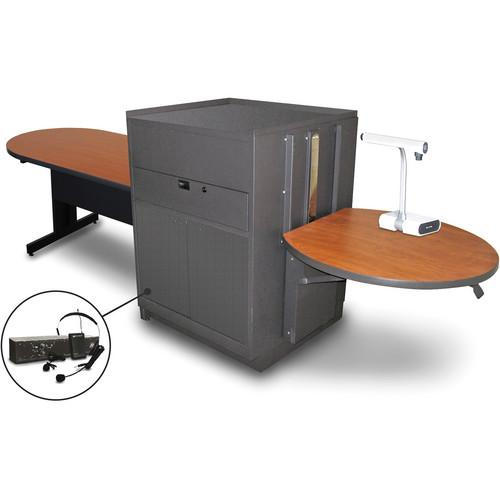 Marvel Vizion Peninsula Table with Media Center MVMTPM4830CHDT-E