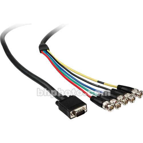 Comprehensive VGA 15-pin (HD15) Male to 5 BNC VGA15P-5BP-75HR