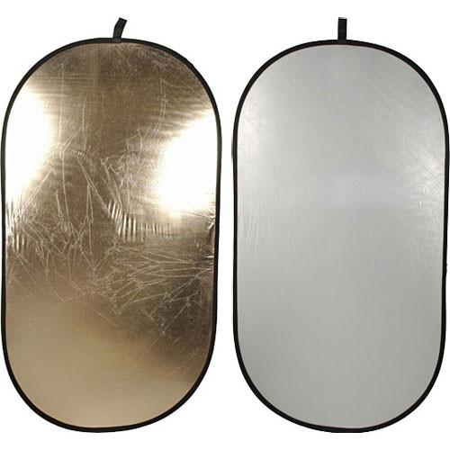 Impact Collapsible Oval Reflector Disc - Soft Gold/White R144174