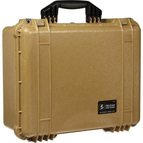 Pelican 1550NF Case without Foam (Yellow) 1550-001-240