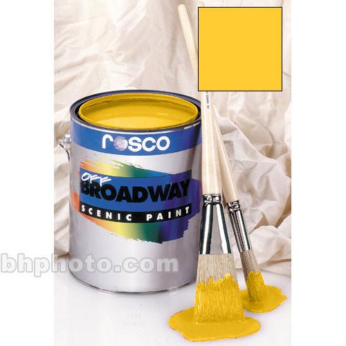 Rosco Off Broadway Paint - Golden Yellow - 1 Gal. 150053670128