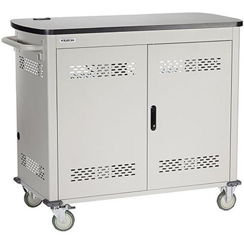 Black Box Adjustable-Shelf 24-Slot Charging Cart UCCSM-12-24T