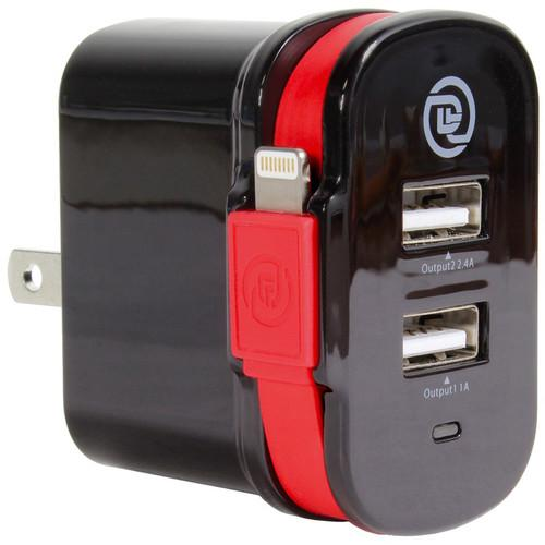 DIGITAL TREASURES ChargeIt! Dual Output Wall Charger 09914PG