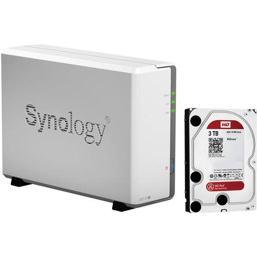 Synology DiskStation DS115j 3TB (1 x 3TB) Single Bay NAS Server