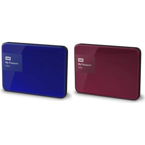 WD 2 x 1TB My Passport Ultra USB 3.0 Secure Portable Hard Drive