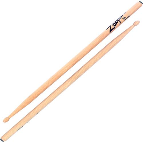 Zildjian 5A Hickory Drumsticks with Oval Wood Tips 5AWBU-1