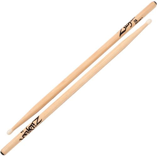 Zildjian 7A Hickory Drumsticks with Round Nylon Tips 7ANP-1