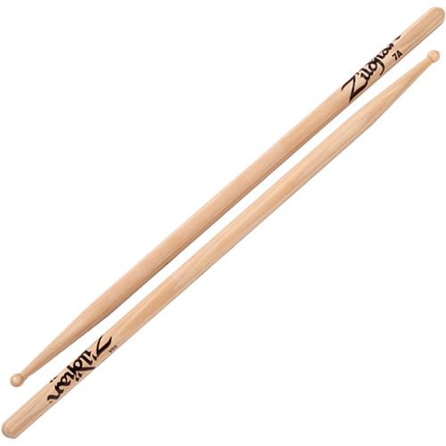 Zildjian 7A Hickory Drumsticks with Round Wood Tips 7AWN-1
