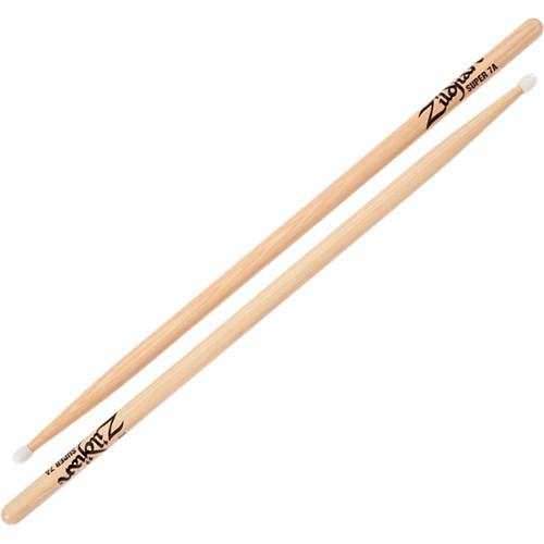 Zildjian Super 7A Hickory Drumsticks with Nylon Round S7ANN-1