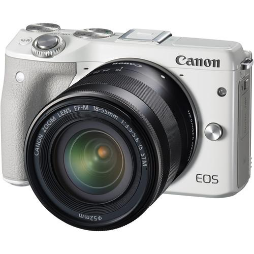 Canon EOS M3 Mirrorless Digital Camera with 18-55mm 9772B011