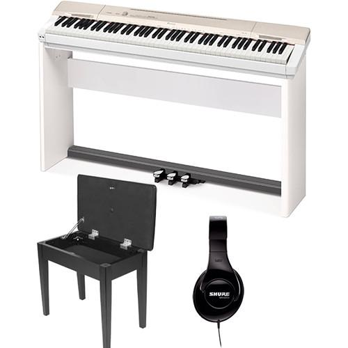 Casio PX-160 Privia 88-Key Digital Piano with Stand, Bench