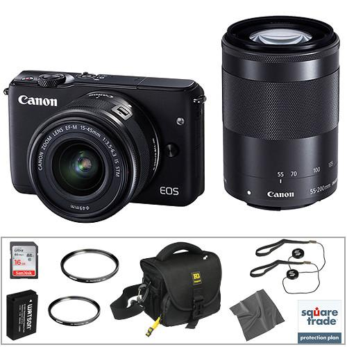 Canon EOS M10 Mirrorless Digital Camera with 15-45mm and