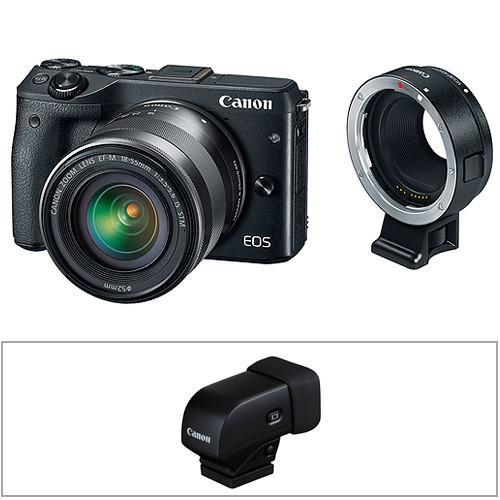 Canon EOS M3 Mirrorless Digital Camera Body with Electronic