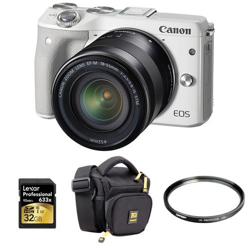 Canon EOS M3 Mirrorless Digital Camera with 18-55mm Lens and