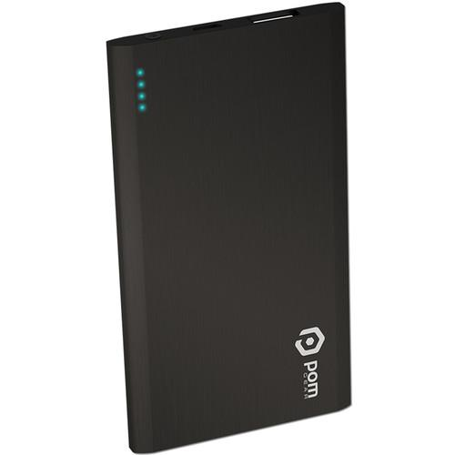 POM GEAR Matrix Flat Metal 2500mAh Power Bank (Black)