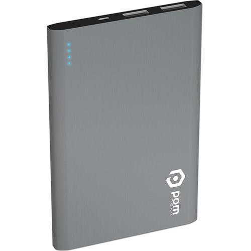 POM GEAR Matrix Flat Metal 2500mAh Power Bank P2G-5011SLV