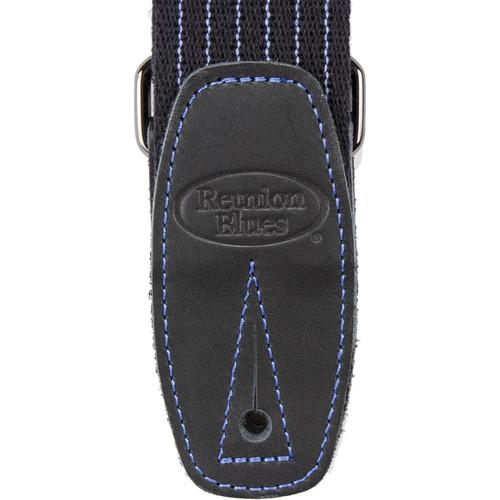 Reunion Blues Merino Wool Guitar Strap (Black Pinstripe)