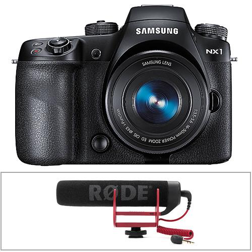 Samsung NX1 Mirrorless Digital Camera Body with Rode VideoMic