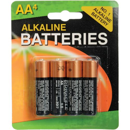 Duracell 1.5V AA Coppertop Alkaline Batteries (4-Pack) MN1500B4