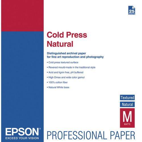 Epson Cold Press Natural Textured Matte Paper S042300