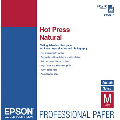 Epson Hot Press Natural Smooth Matte Paper S042317