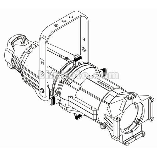 ETC Source 4 750W Ellipsoidal, Black, 15A 7060A1010-0XM