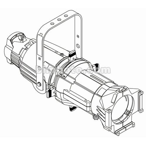 ETC Source 4 750W Ellipsoidal, White, Edison - 50 7060A1010-1XA
