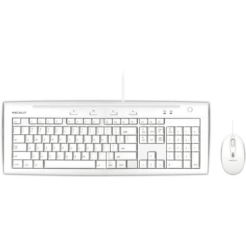 Macally USB Slim Keyboard and Optical Game Mouse IKEY5COMBO
