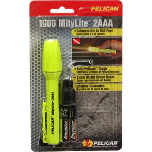 Pelican Mitylite 1900 Flashlight 2 'AAA' Xenon Lamp 1900-015-150