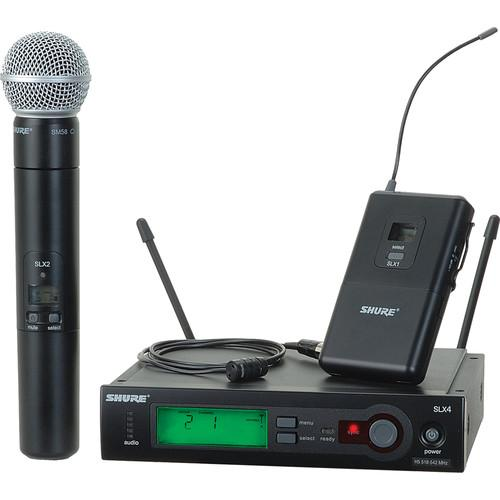Shure SLX Series Wireless Microphone Combo SLX124/85/SM58-G4
