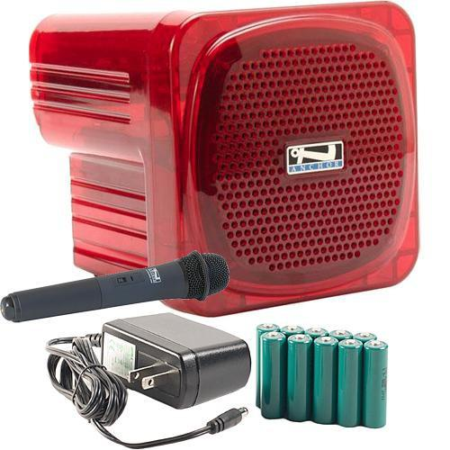 Anchor Audio AN-Mini Deluxe Package (Red) - PA AN-MINIDP RED HH