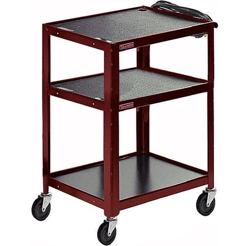 Luxor Steel Adjustable Height AV Cart with Three AVJ42-GN
