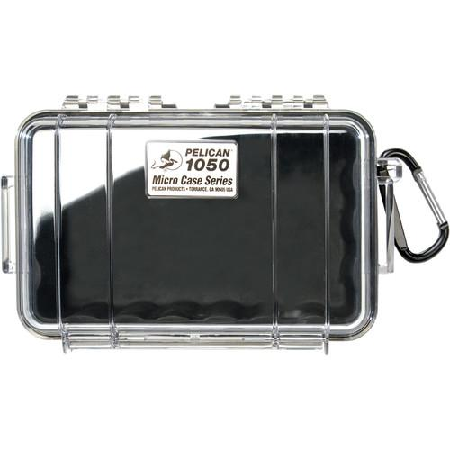 Pelican  1050 Clear Micro Case (Red) 1050-028-100