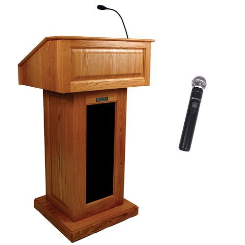 AmpliVox Sound Systems Victoria Wireless Lectern SW3020-OK-HH