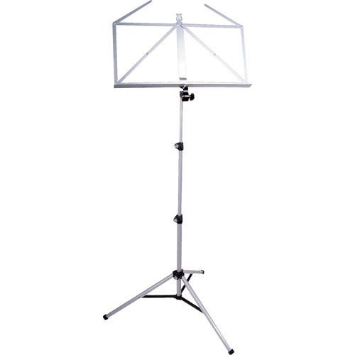 K&M 10065 Three-Piece Music Stand (Nickel) 10065-000-11